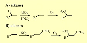 NO3 organic reactions