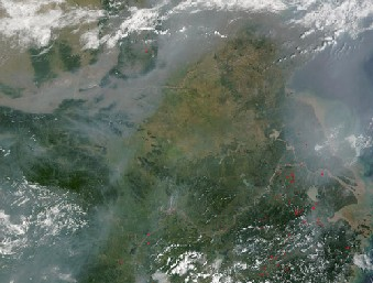 Haze over China