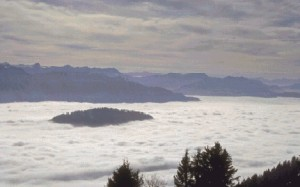 inversion layer in the mountains