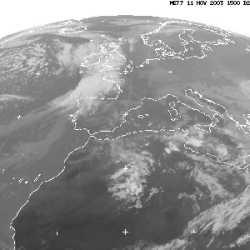 Meteosat satellite image