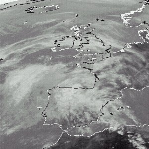 satellite picture of Western Europe